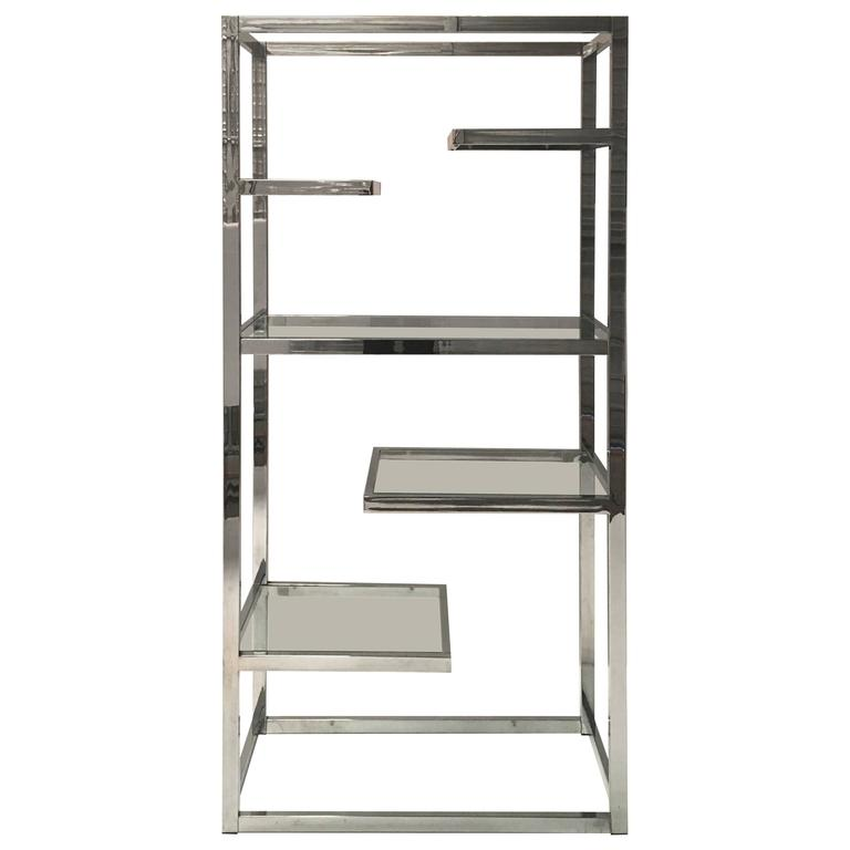 Superb Chrome Etagere by Milo Baughman 1