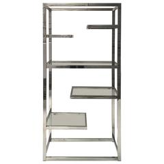 Superb Chrome Etagere by Milo Baughman