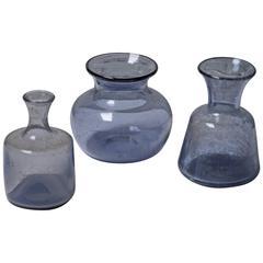 Erik Hoglund Handmade Vases by the Artist for Boda, Sweden, 1960s