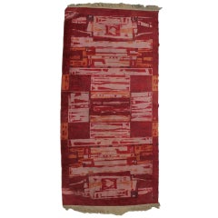 Czechoslovakian Geometric Rug Carpet, 1950s