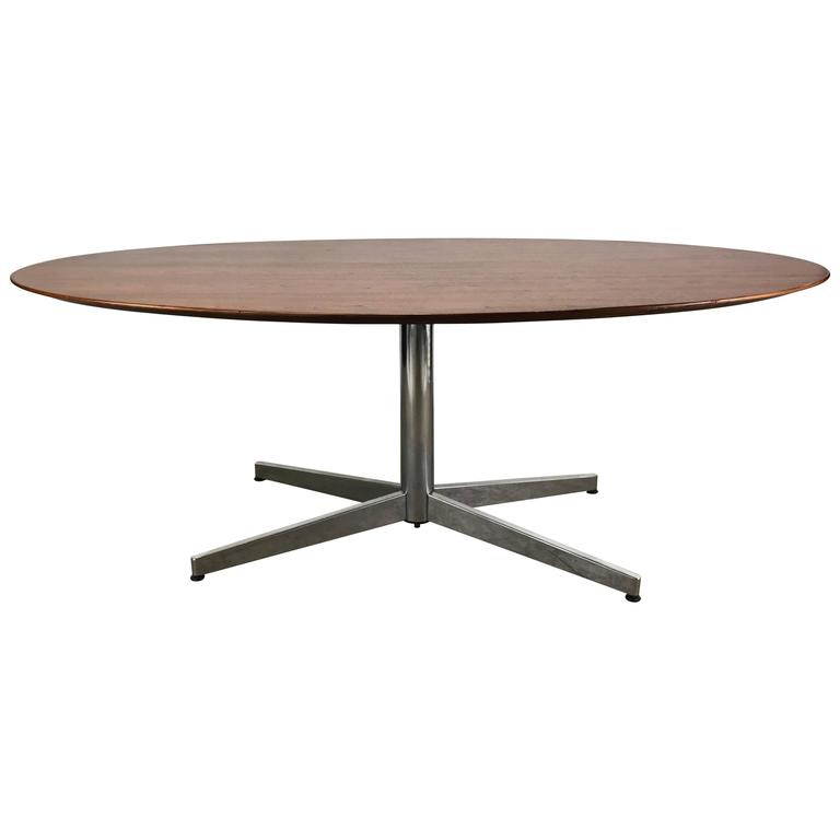 Florence Knoll Oval Conference or Dining Table, Knoll International