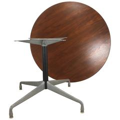 Modernist Walnut and Aluminum Group Table by Charles Eames for Herman Miller