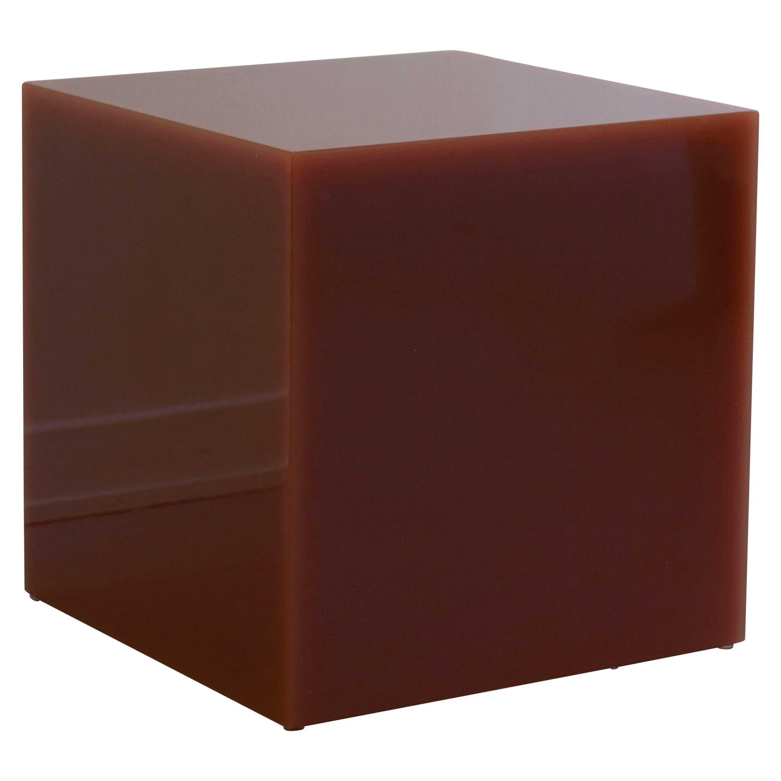"""Contemporary Candy Cube Side Table by Sabine Marcelis, """"Tomato"""", 60 cm3"""