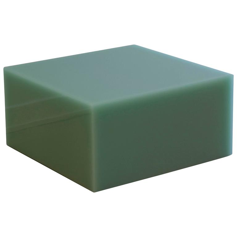 Candy Cube in Mint Green, Side Table For Sale