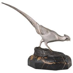 French Art Deco Bronze Sculpture of a Pheasant by Irénée Rochard, 1930