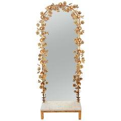 'Gracie' Flower Light Mirror