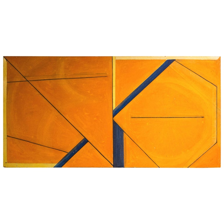 Masaaki Kusumoto Geometric Abstract Painting For Sale