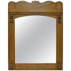 Pine Overmantle Mirror