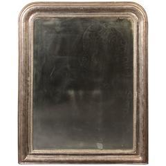 Napoleon III Silver Leafed Mirror