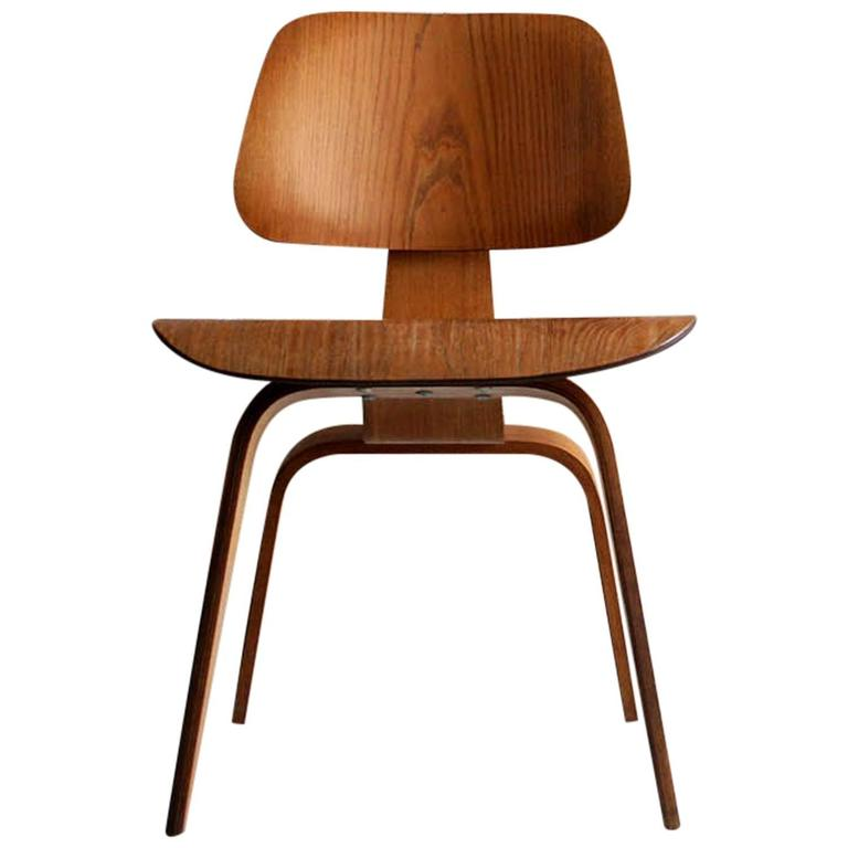 All Original Molded Plywood Eames DCW Chair in Ash at stdibs