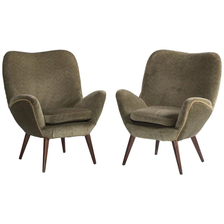 Pair of Giuseppe Carmignani Armchairs, circa 1958 For Sale