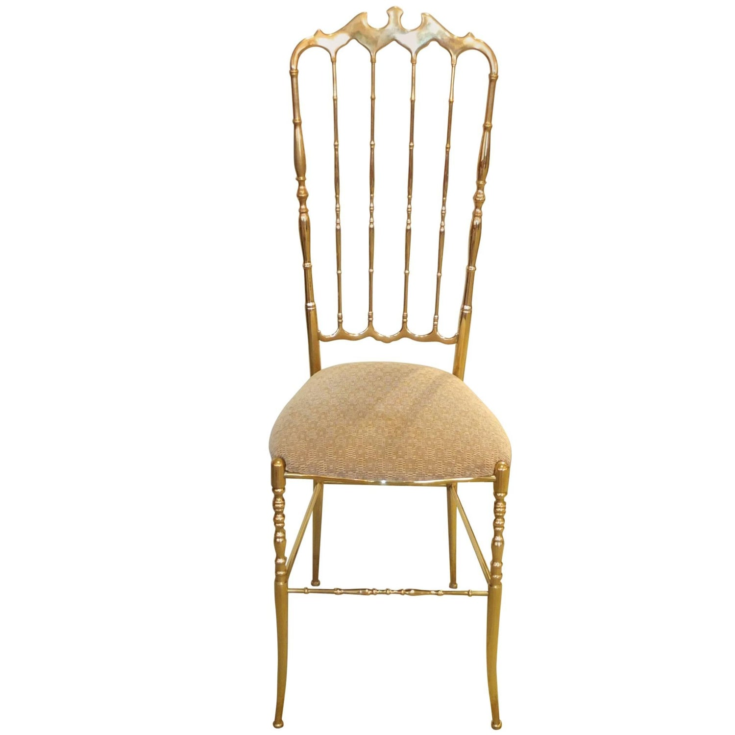 Solid Brass High Back Chiavari Chair For Sale at 1stdibs