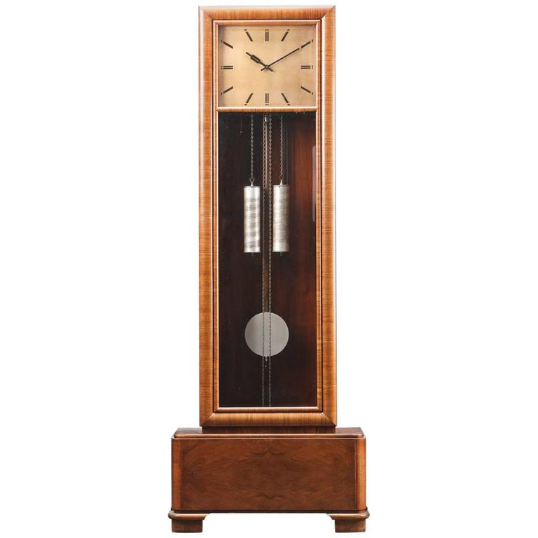 art deco german floor clock for sale at 1stdibs. Black Bedroom Furniture Sets. Home Design Ideas