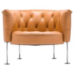 Robert & Trix Haussmann 1962 Tufted Leather Club Chair