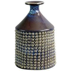 Large Vase with Purple Glossy Glaze by Stig Lindberg for Gustavsberg