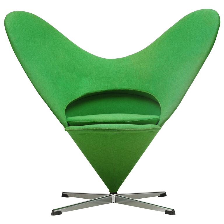 early k3 39 heart cone 39 chair by verner panton at 1stdibs. Black Bedroom Furniture Sets. Home Design Ideas