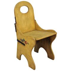 1930s Monterey Hand-Painted Monks Chair