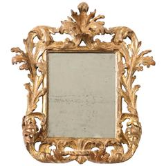 Italian Baroque Carved and Gilded Mirror
