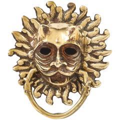 Italian Bronze Masquerone Door Knocker