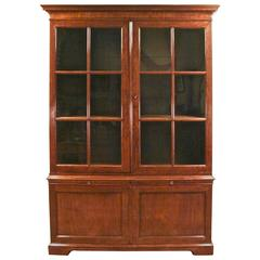 George III Mahogany Bookcase Cabinet with Single Drawer