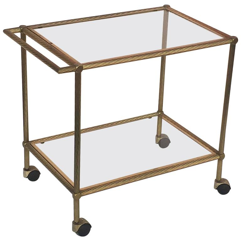 French Drinks Cart of Brass