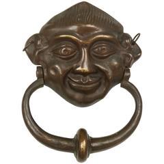 Antique Figural Bronze Door Knocker