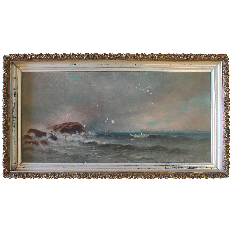 19th Century Ocean Oil Painting