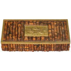 Dresser Box with Equine Medal and Bamboo