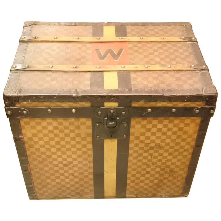 Louis Vuitton Damier Cube Trunk For Sale