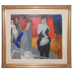 "Bruno Paoli ""Palcoscenico"" Painting"