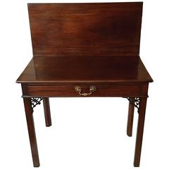18th Century Chippendale Mahogany Card Table