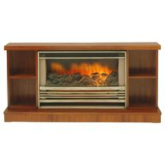 Mid Century Electric Cone Shaped Freestanding Fireplace