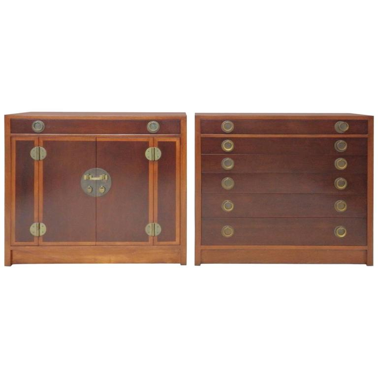 Pair of Edward Wormley for Dunbar Chests