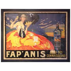 Impressive Bold Framed Vintage French Poster