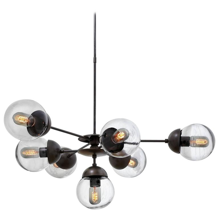 Bounce Made to Order Brass Chandelier