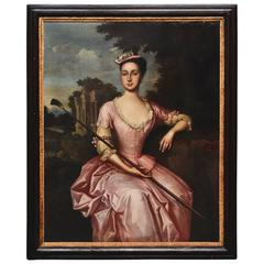 Large18th Century Portrait of a Young Woman, Believed to Be Mary Yeats