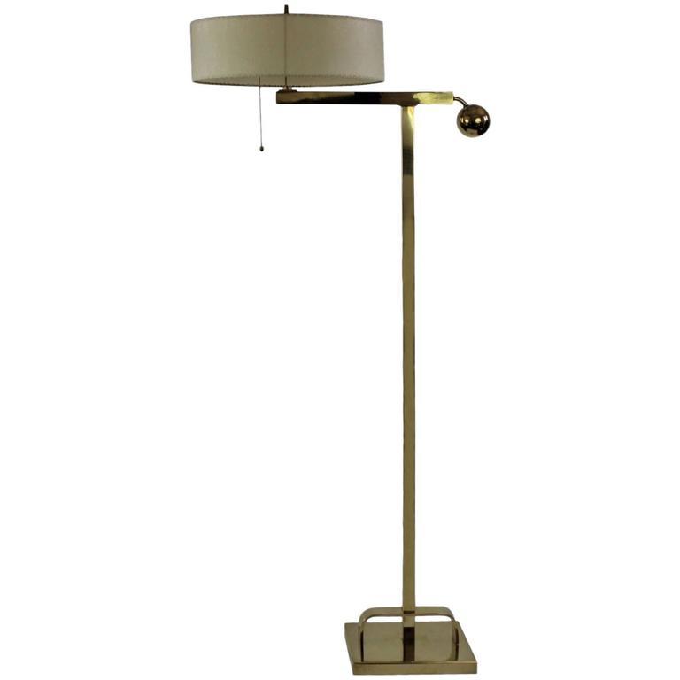 1930s brass art deco floor lamp at 1stdibs for 1930s floor lamps