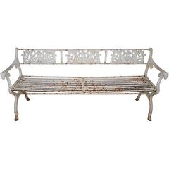 Cast Iron Garden Bench in the Neoclassical Style of Karl Friedrich Schinkel