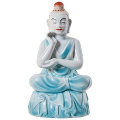 Porcelain Buddha Table Lamp by Arabia of Finland