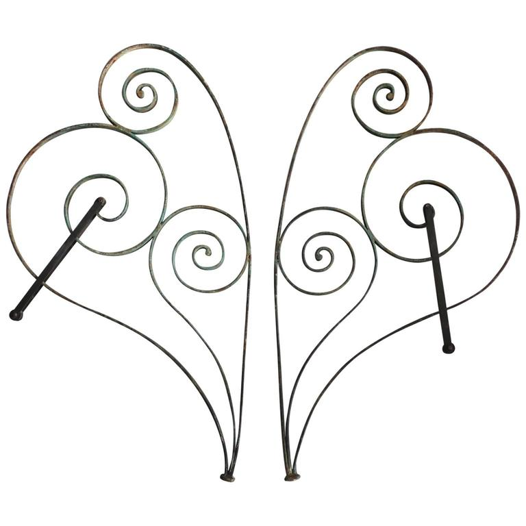 Pair of 19th Century French Steel Awning Brackets, circa 1880s For Sale