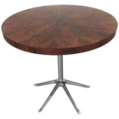 Rosewood and Chrome Occasional Table