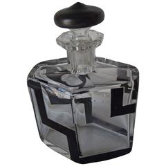 Art Deco Brandy Decanter, Art Deco Decanter with Matching Stopper