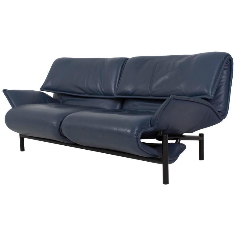"""Luxurious Two-Seat Sofa """"Veranda"""" by Vico Magistretti for Cassina, 1980s"""