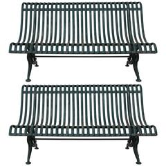 Pair of Iron Benches Belonged to Baron Franchetti, Hemingway's Friend