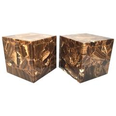 Onyx Rolling Cube Tables by Muller's of Mexico
