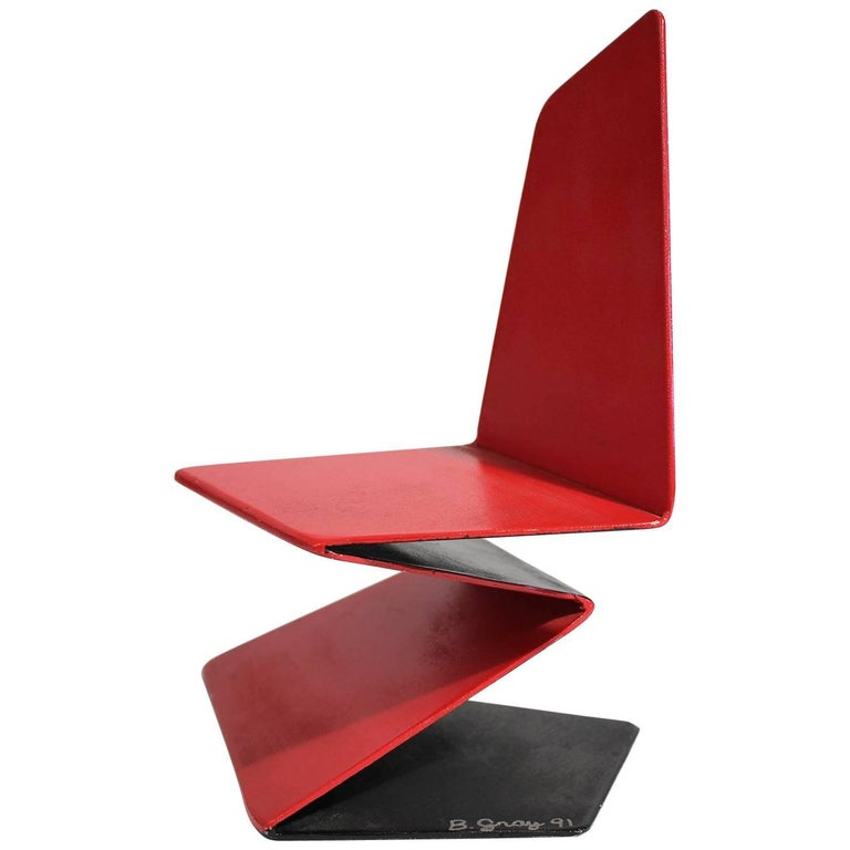Bruce Gray Abstract Enamel and Steel Furniture Design Model Sculpture For Sale
