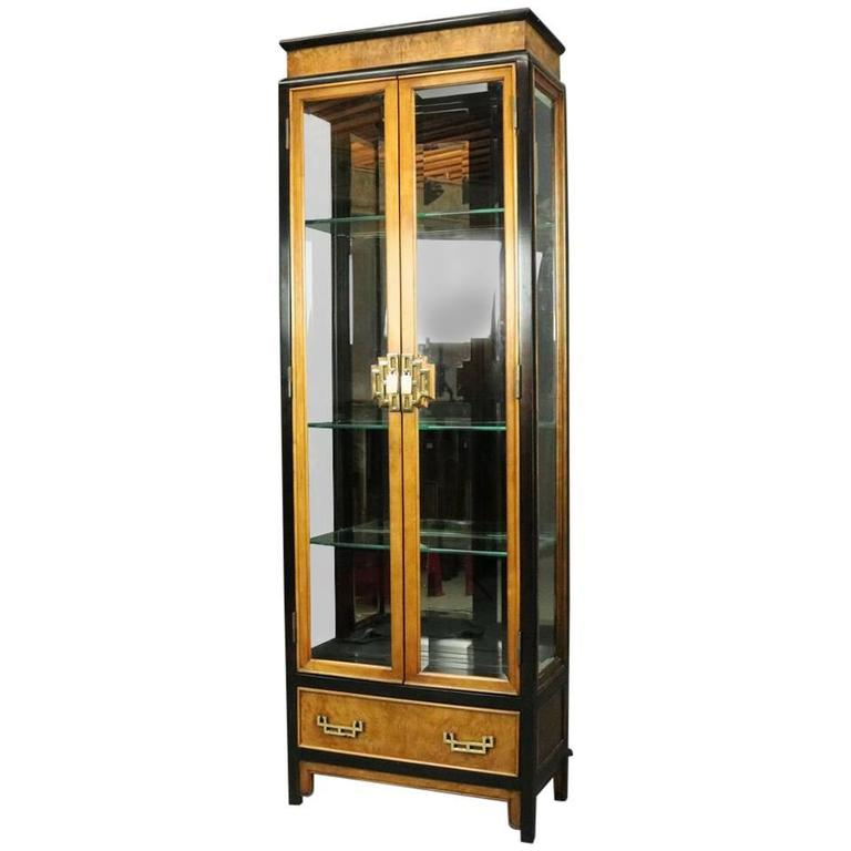 glass curio cabinet canada cabinets dining room furniture all sale vintage style burl beveled