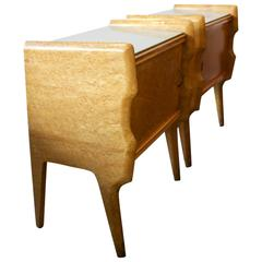 Pair of Bedside Cabinets, Italy, 1950s
