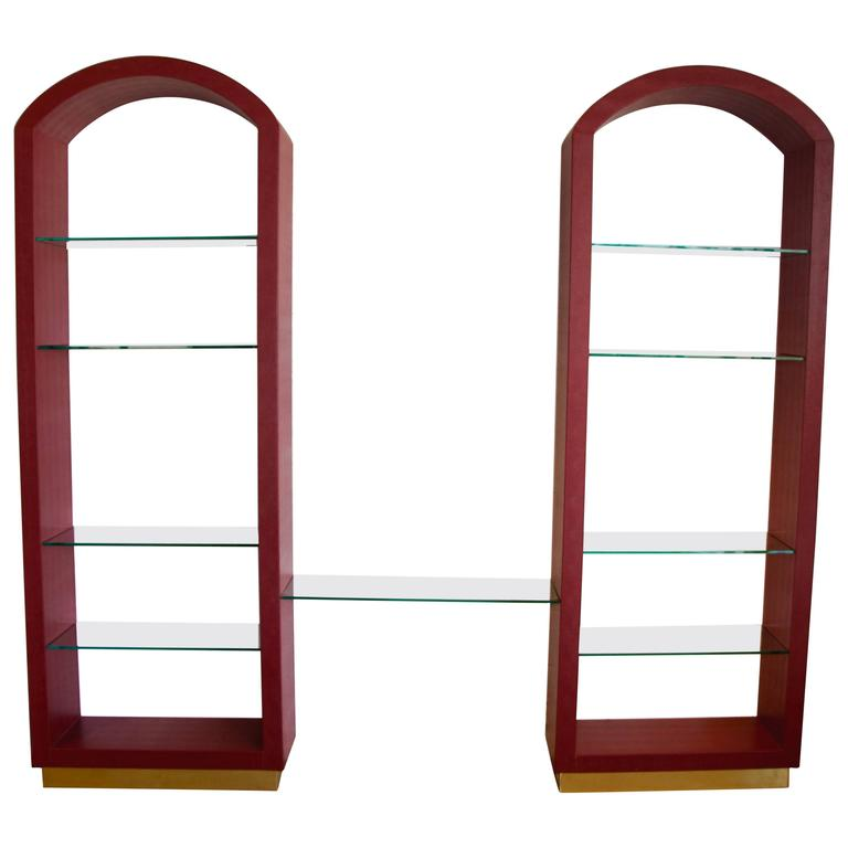 Red Lizard Skin Arched three-Piece Wall Unit