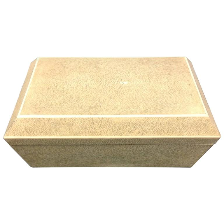 R & Y Augousti Paris Shagreen Box
